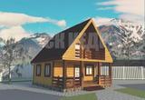 Дачный дом 6*8,5м. с террасой ,балконом