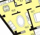 2-комнатная квартира, 51 кв.м., 4/17 этаж, новостройка